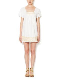 Thalia Cotton Embroidered Dress by House of Harlow