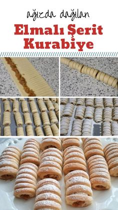 Elmalı Şerit Kurabiye – Nefis Yemek Tarifleri – – Kurabiye – The Most Practical and Easy Recipes Arabic Dessert, Arabic Sweets, Arabic Food, Puff Pastry Recipes, Cookie Recipes, Turkish Sweets, Bread Shaping, Indian Dessert Recipes, Food Garnishes