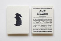 Beautiful Business Card   (Made with Stamps)