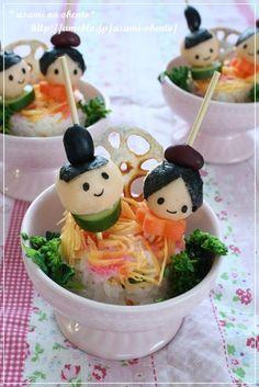 Doll mini cake sushi