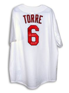 c9ee956084b Autographed Joe Torre St. Louis Cardinals White Majestic Throwback Jersey  Inscribed