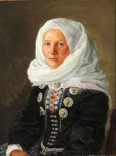 Laurits Tuxen - A young girl from the Danish island of Læsø