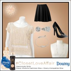 This Glamorously Girlie look was inspired by Downy Infusions Cashmere Glow and Downy Unstopables Glow. This black and cream combo will make you feel like a Parisian princess!  To shop this look, visit the LC Lauren Conrad collection available only at Kohl's. To register for the #ClosetLoveAffair sweepstakes visit https://downy.promo.eprize.com/pinterest/.