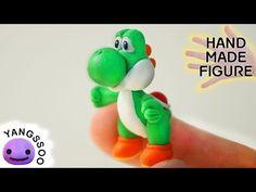Yoshi (Super Mario Bros.) Polymer Clay Miniature Character Figure Tutorial…