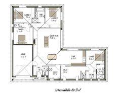 Plan maison contemporaine (projet n°5)