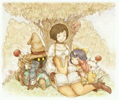 Vivi, Garnet, and Eiko - Final Fantasy IX