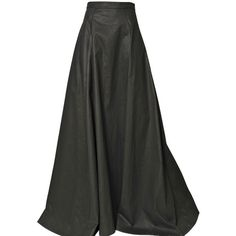 GARETH PUGH Light Waxed Cotton Long Skirt (8.365 HRK) ❤ liked on Polyvore featuring skirts, bottoms, saias, long skirts, black, floor length skirts, ankle length skirt, gareth pugh and maxi skirt
