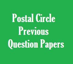 Maharashtra Postal Circle Exam Question Papers Previous Year Question Paper, This Or That Questions, Circles