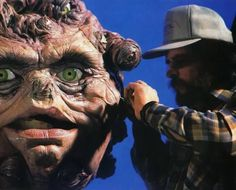 "Image: FX technician Alex Felix adjusts the ""seeker"" puppet in John Carpenter's BIG TROUBLE IN LITTLE CHINA (1986), brought to life by FX genius Steve Johnson for Richard Edlund's Boss Film Studios."