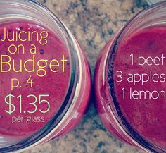 Juicing on a Budget Recipes $1.35 #weightlossmotivationbeforeandafter