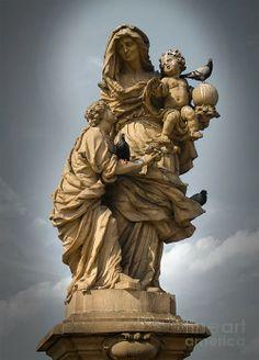 Statue in Charles Bridge, Prague Czech Republic
