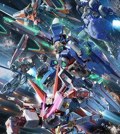 Gundam Exia, Gundam 00, Gundam Wing, Gundam Wallpapers, Iphone Wallpapers, Futuristic Robot, Gundam Mobile Suit, Gundam Custom Build, Robot Concept Art