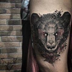 Bear!! #tattoo #equilattera #blxckink #blackworkerssubmission #blacksunday #tattoo2me #tattooaria #beartattoo #bear