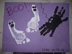 footprint ghost and handprint spider