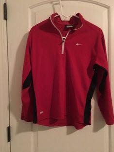 377f7e316397a6 NIKE Dri Fit Big Kids 1 4 Zip Front Shirt Athletic Top Sz L 14-16 MultiColor