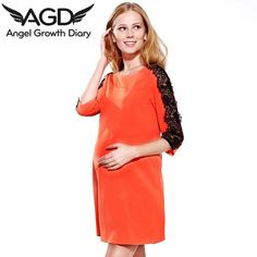 Find More Dresses Information about Autumn New Pregnant Woman Maternity Dress Clothing Clothes European And American Fashion Loose Lace Sleeves Round Neck,High Quality dress mint,China dresses paintings Suppliers, Cheap dresse from Angel Growth Diary on Aliexpress.com