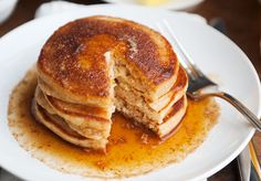 apple cider pancakes recipe  - good texture but not enough apple flavor. Think my cider didn't reduce enough. Would add more cider to batter if that happens next time.