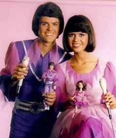 Donny and Marie dolls by Mattel. I watched their show religiously every Friday night at 8:00.