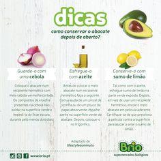 Brio Supermercado Biológico - Dicas para conservar o Abacate