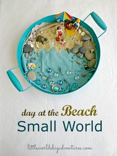 How to Set up a Beach Small World Invitation to Play | Little Worlds Big Adventures