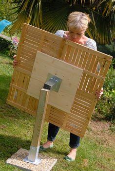 Create a garden table DIY family - diy and crafts Outdoor Projects, Garden Projects, Wood Projects, Garden Furniture, Diy Furniture, Diy Jardim, Outdoor Planter Boxes, Bois Diy, Diy Table