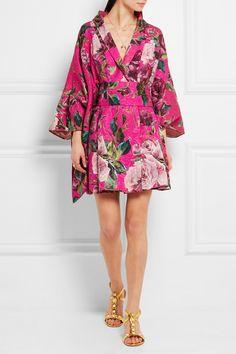 Dolce & Gabbana | Floral-brocade kimono mini dress | NET-A-PORTER.COM