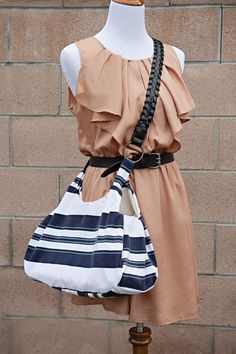 Upcycle an old polo shirt into a stylish bag via FabYouBliss
