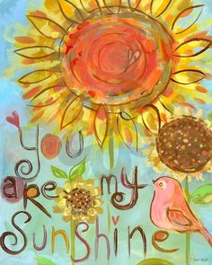 You Are My Sunshine - Birds Canvas Wall Art | Oopsy daisy