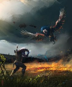 "from ""The Witcher, Wild Hunt"" (polish game - ""Wiedźmin, Dziki Gon"") The Witcher Wild Hunt, The Witcher 3, Witcher 3 Art, The Witcher Books, Ciri Witcher, Witcher Tattoo, Witcher Wallpaper, Science Fiction, The Longest Journey"