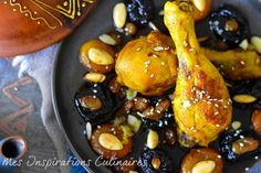 tajine de poulet pruneaux et raisins secs