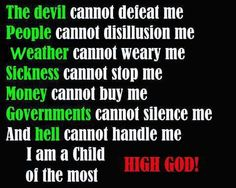 Child of the Most High God!