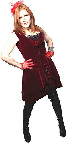 Wine Red - Velvet Tailored Flared Victorian Steampunk Got... http://www.amazon.com/dp/B006P34AKC/ref=cm_sw_r_pi_dp_tWLtxb03VF7H4