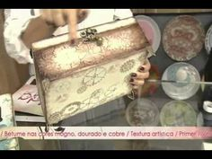 Caixa Dia dos Pais  Rede Vida   Vida Melhor 29 07 2015   Camila Claro Diy Videos, Craft Videos, Wooden Words, Decoupage Tutorial, Diy Cardboard, Jewellery Boxes, Master Class, Altered Art, Decoration