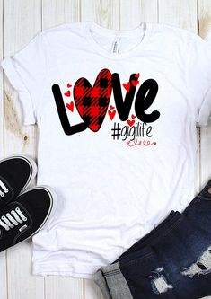 Buffalo Plaid Love Svg Gigi Svg Svg Digital Cut Files Sublimation Design Svg Dxf Ai Eps Pdf Png Jpe - Love Shirts - Ideas of Love Shirts - - T Shirt Designs, Design T Shirt, Vinyl Shirts, Tee Shirts, Tees, Love Shirt, Shirt Style, T Shirt Custom, T Shirt World