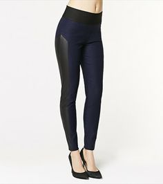 #DYNHOLIDAY With faux leather panels and a second skin fit, these leggings will definitely steal glances!