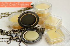 Solid Perfume Tutorial - Great for Gifts and Traveling! This is easy - fragrance oil, beeswax, container and some patience!