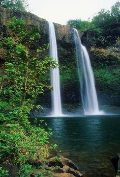 Kauai - Twin Waterfalls at Wailau