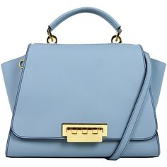 Rental ZAC Zac Posen Handbags Blue Eartha Handbag (110 AUD) ❤ liked on Polyvore featuring bags, handbags, shoulder bags, blue, satchel shoulder bag, satchel purse, handbag satchel, blue satchel bag and blue satchel handbags