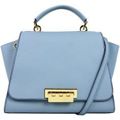 Rental ZAC Zac Posen Handbags Blue Eartha Handbag (€66) ❤ liked on Polyvore featuring bags, handbags, shoulder bags, blue, bag satchel, accessories handbags, satchel purse, blue purse and satchels