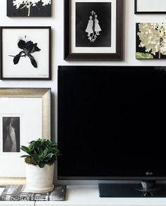 786abc1da7135 Spicer + Bank  by Allison Egan  Designer Tip  A Beautifully Hidden TV Frame