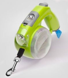 Smart Dog Leash Green Retractable Pet Gift Puppy Poo Bag Treat Holder LED Light in Pet Supplies, Dog Supplies, Leads & Head Collars | eBay