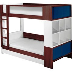 Sleeping in a bunk beds, kids get so excited. Bunk beds offer a practical solution for smaller kids bedrooms. We have a large selection of bunk beds for kids - at truly phenomenal prices. Make bedroom a place they enjoy to be in. Bunk Beds With Storage, Bunk Beds With Stairs, Cool Bunk Beds, Kids Bunk Beds, Cubby Storage, Storage Drawers, Extra Storage, Bunk Bed With Trundle, Storage Cubes