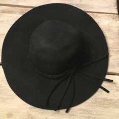 Wool Wide Brim Hat Wool Wide Brim Hat with Braid. Never Worn. Accessories Hats