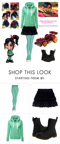 """""""vanellope von schweetz - Wreak it Ralph - Cosplay"""" by shadow-cheshire ❤ liked on Polyvore featuring Faith Connexion, RALPH, Superdry, Dr. Martens, women's clothing, women's fashion, women, female, woman and misses"""