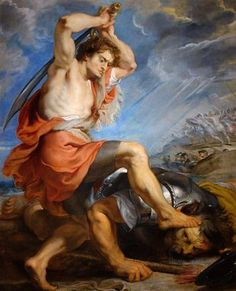 David contre Goliath, par Peter-Paul Rubens