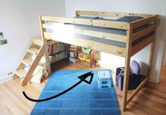#DIY loft bed | crab+fish  lower in height than the original AW loft bed