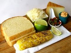 Marco Polo Ingredients: texas toast, manchego, lime, pickled jalapenos, roasted corn, smoked chili butter