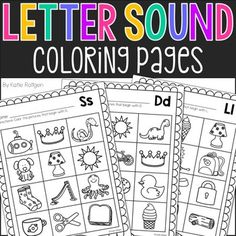 Letter Sound Coloring Pages - This is a set of 26 pages that help reinforce letter sound knowledge! Each page focuses on one letter, and students will color the pictures on that page that begin with that letter. These pages require no preparation - just print and you're ready to go! They work great for literacy centers or morning work, and they come in handy in a pinch! Great for tot school, preschool, Kindergarten, or 1st grade review in the classroom or homeschool.
