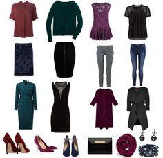 Lookbook: Цветотип Глубокая Зима: цвет волос, гардероб, палитра, макияж