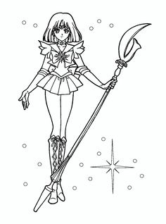 Sailor Saturn Beautiful Sailor Moon Coloring Pages Pinterest Saturn Coloring Page